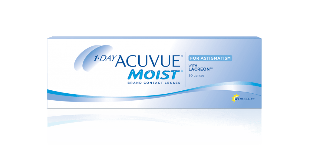 PACKSHOT of 1-DAY ACUVUE® MOIST for ASTIGMATISM