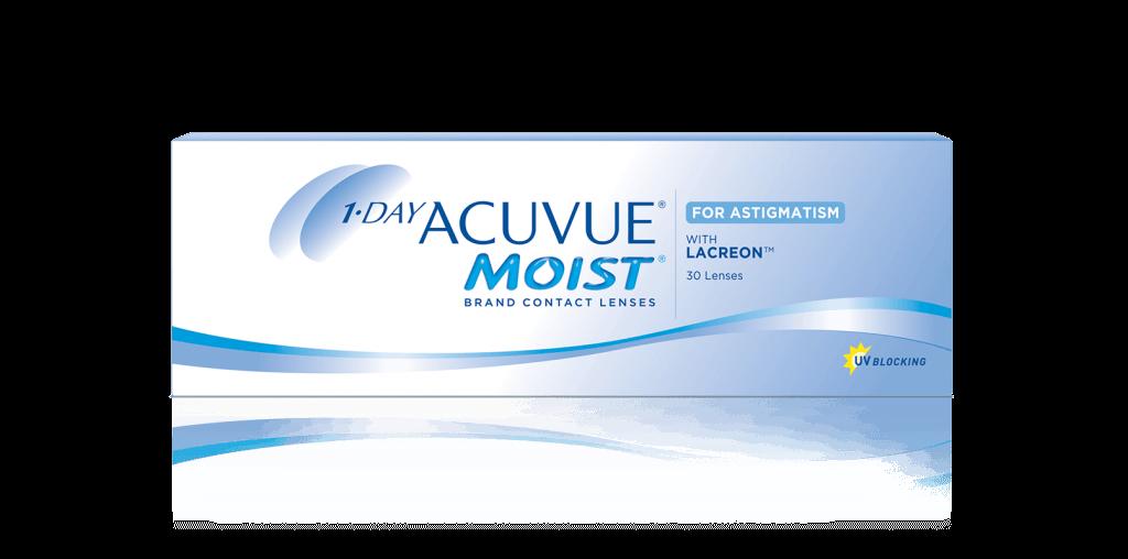 PACKSHOT of 1-DAY ACUVUE® MOIST for ASTIGMATISM